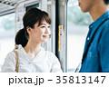 若い女性 電車 撮影協力・京王電鉄株式会 35813147