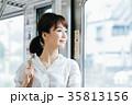 若い女性 電車 撮影協力・京王電鉄株式会 35813156