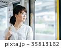 若い女性 電車 撮影協力・京王電鉄株式会 35813162
