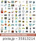 100 100 エンジニアリングのイラスト 35813214