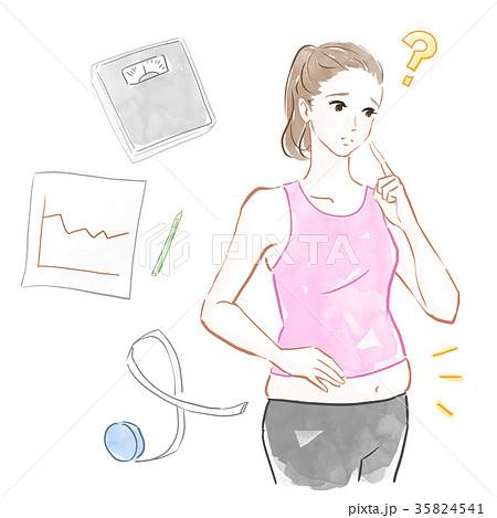ダイエットに関する悩み 35824541