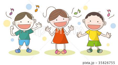 歌っている子供達のイラスト素材 35826755 Pixta