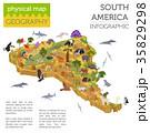 南米大陸 動物 鳥のイラスト 35829298