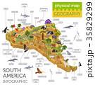 アメリカ 米国 南米大陸のイラスト 35829299