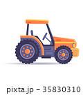 ショベルカー 作業車 乗り物のイラスト 35830310