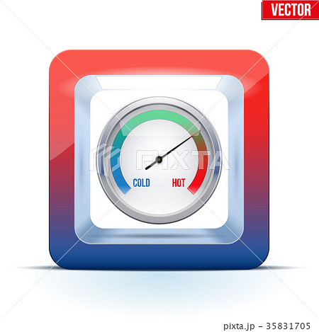 Icon of Indicator meter of comfort. 35831705