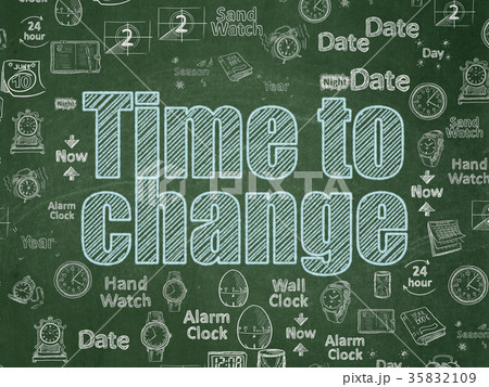 Time concept: Time to Change on School board 35832109