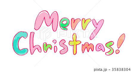 メリークリスマス 文字のイラスト素材 [35838304] , PIXTA