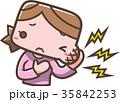 ほっぺが痛い女性 35842253