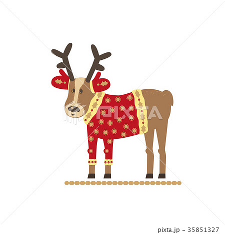 Cute reindeer design 35851327