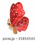 蝶 赤色 アイコンのイラスト 35854545