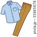 衣類 カジュアル上下 男性用 夏服 35865678
