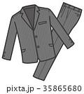 衣類 スーツ上下 グレー 男性用 35865680