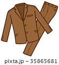 衣類 スーツ上下 ブラウン 男性用 35865681