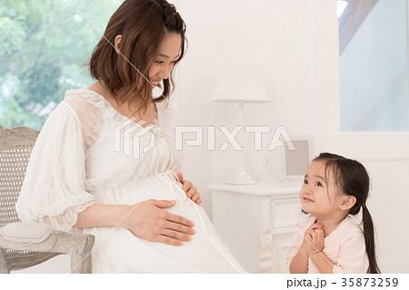 親子、妊婦、母子、母娘 35873259
