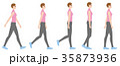 歩く 全身 姿勢のイラスト 35873936