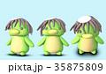 河童 CGイラスト 素材 前から 3パターン 35875809