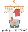 燃える洗濯物 35877540