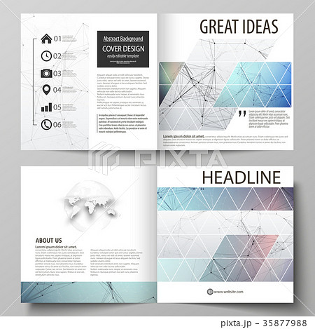 business templates for square design bi foldのイラスト素材 35877988