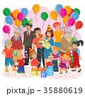 ファミリー 家庭 家族のイラスト 35880619