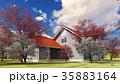 summer cottage in the spring garden 3d rendering 35883164