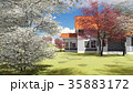summer cottage in the spring garden 3d rendering 35883172
