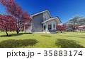 summer cottage in the spring garden 3d rendering 35883174