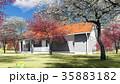summer cottage in the spring garden 3d rendering 35883182