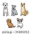 犬 イラスト セット 35885053
