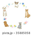 犬 フレーム 花 35885058