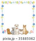 犬 フレーム イラスト 35885062