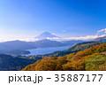 紅葉の箱根大観山から富士山 35887177