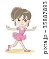 バレエ 人物 ポーズのイラスト 35887893