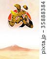 「戌年」年賀状デザインテンプレート 35888384
