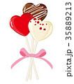 バレンタイン ロリポップ リボンのイラスト 35889213