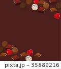 バレンタインデー チョコレート 背景イラスト 35889216