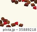 バレンタインデー チョコレート 背景イラスト 35889218