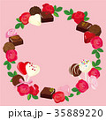 バレンタイン チョコレート 背景イラスト 35889220