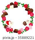 バレンタイン チョコレート フレーム 35889221