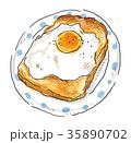卵焼きトースト 35890702