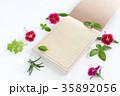 便箋と花 35892056