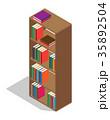 ほんだな 書棚 ライブラリのイラスト 35892504