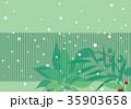 和風の冬の背景 35903658