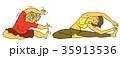 ヨガ ヨガポーズ 女性のイラスト 35913536