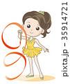 新体操・リボン競技・女性キャラクター 35914721
