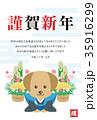 謹賀新年 戌年 戌のイラスト 35916299