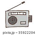ラジオ 家電 電化製品のイラスト 35922204