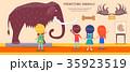 先史時代 展示会 展覧会のイラスト 35923519