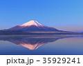 富士山 逆さ富士 山中湖の写真 35929241
