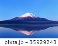 富士山 逆さ富士 山中湖の写真 35929243